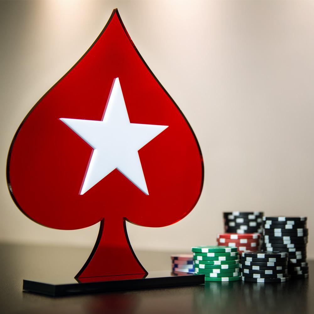 Troféu de Poker/Pôquer em Acrílico Série Dark Red | Top Troféus - Troféus, Medalhas e Placas Personalizadas