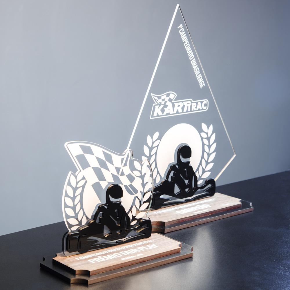 Troféu Personalizado de Kart em acrílico | Top Troféus