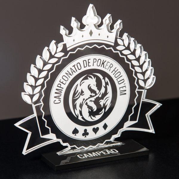 Troféu de Poker / Pôquer em Acrílico | Top Troféus
