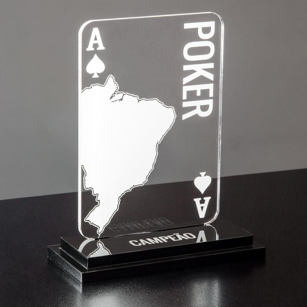 Troféu de Poker (Pôquer) em acrílico | Top Troféus