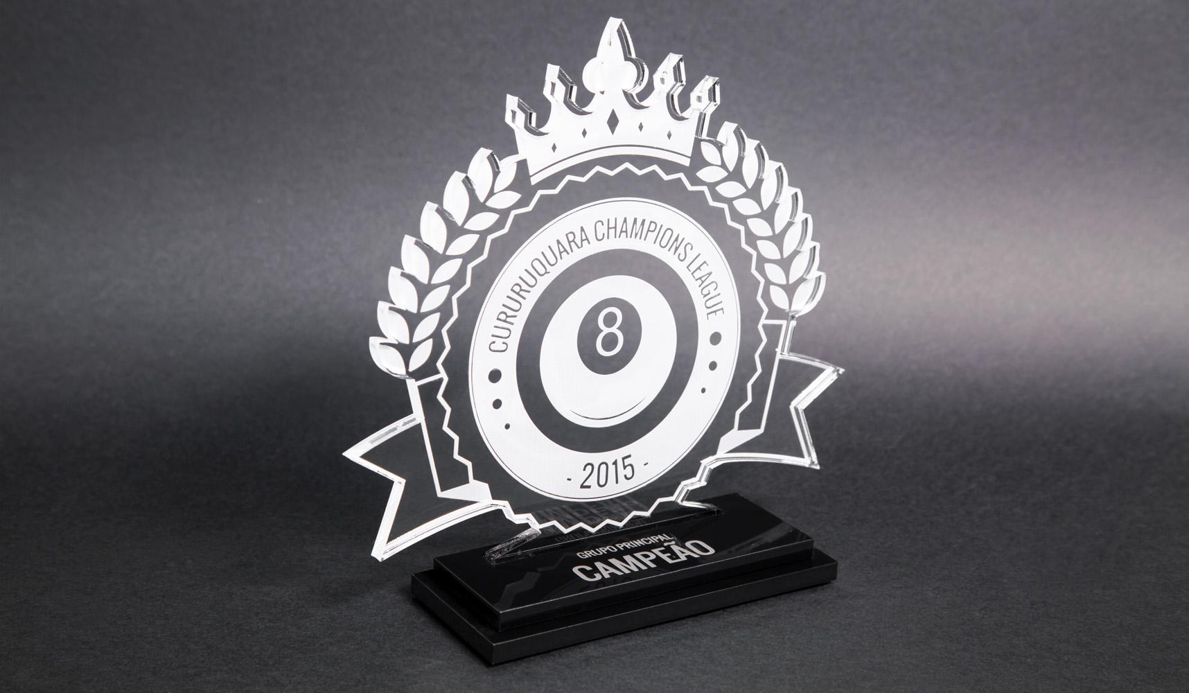 Troféu de Bilhar Bola 8 | TOPTROFÉUS