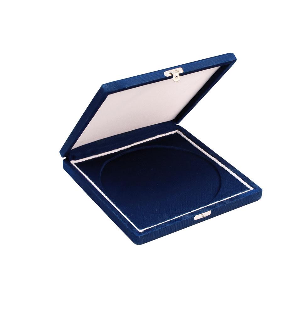 Estojo para Placa Comemorativa Azul Aberta 18x18 cm / 14x14 cm| TOPTROFÉUS