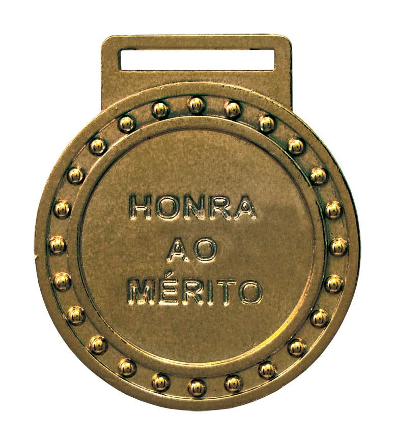 Medalha 03 bronze Honra ao Mérito | TOPTROFÉUS