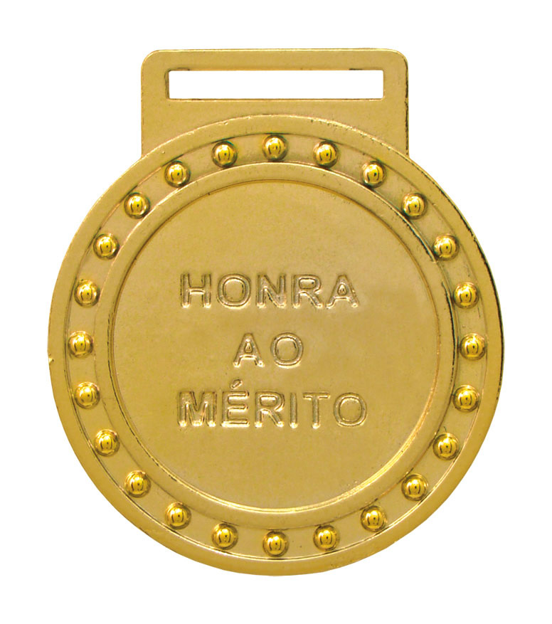 Medalha 03 ouro Honra ao Mérito | TOPTROFÉUS