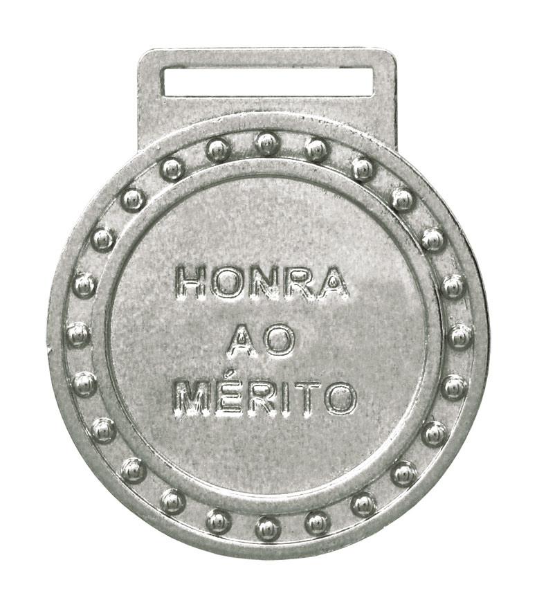 Medalha 03 prata Honra ao Mérito | TOPTROFÉUS