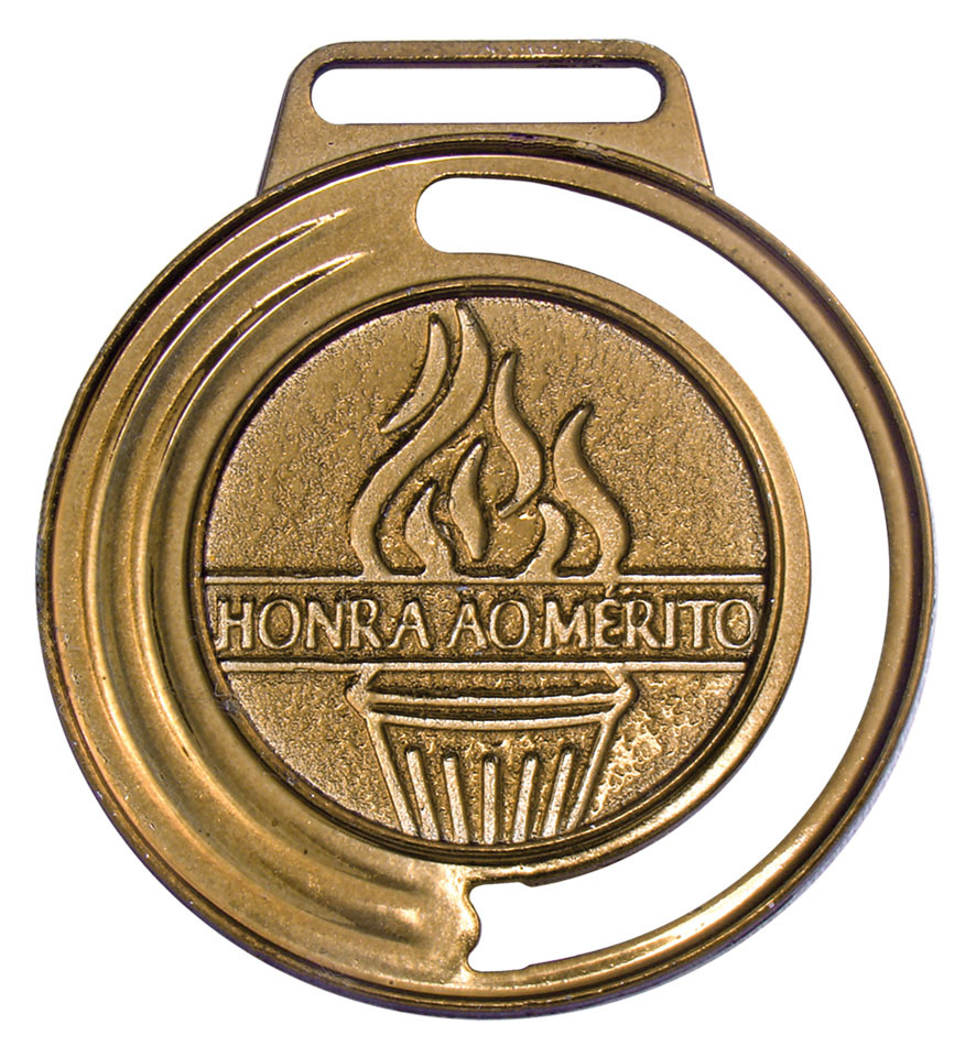 Medalha 05 bronze Honra ao Mérito | TOPTROFÉUS