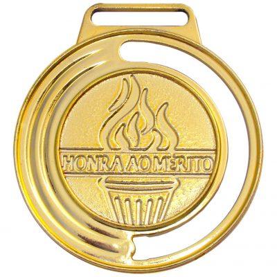 Medalha 05 ouro Honra ao Mérito | TOPTROFÉUS