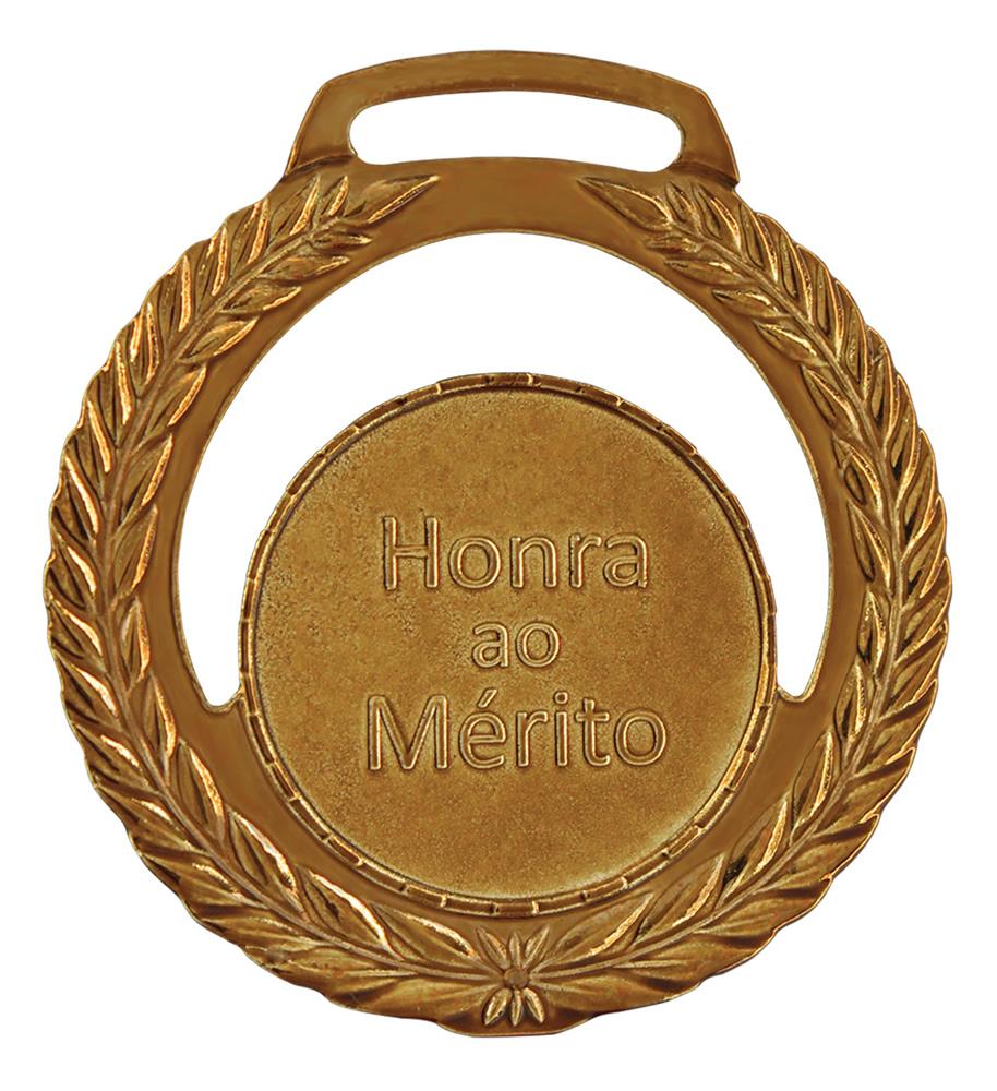 Medalha 01 bronze Honra ao Mérito | TOPTROFÉUS