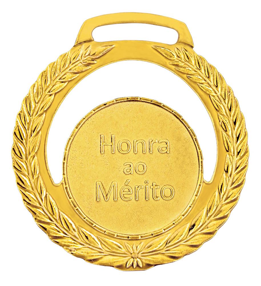 Medalha 01 ouro Honra ao Mérito | TOPTROFÉUS