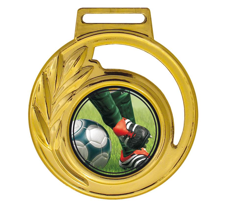 Medalha 06 ouro Adesivo | TOPTROFÉUS