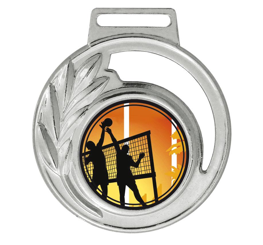 Medalha 06 prata Adesivo | TOPTROFÉUS