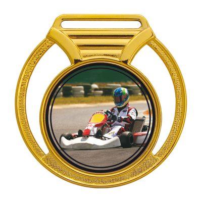 Medalha 11 ouro Adesivo | TOPTROFÉUS