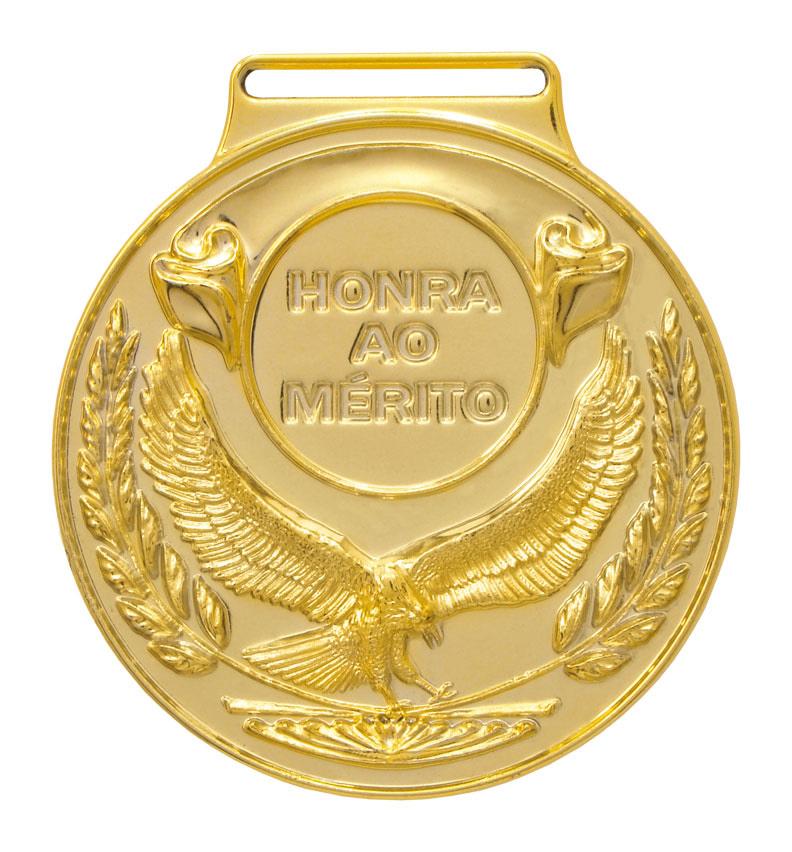 Medalha 04 ouro Honra ao Mérito   TOPTROFÉUS