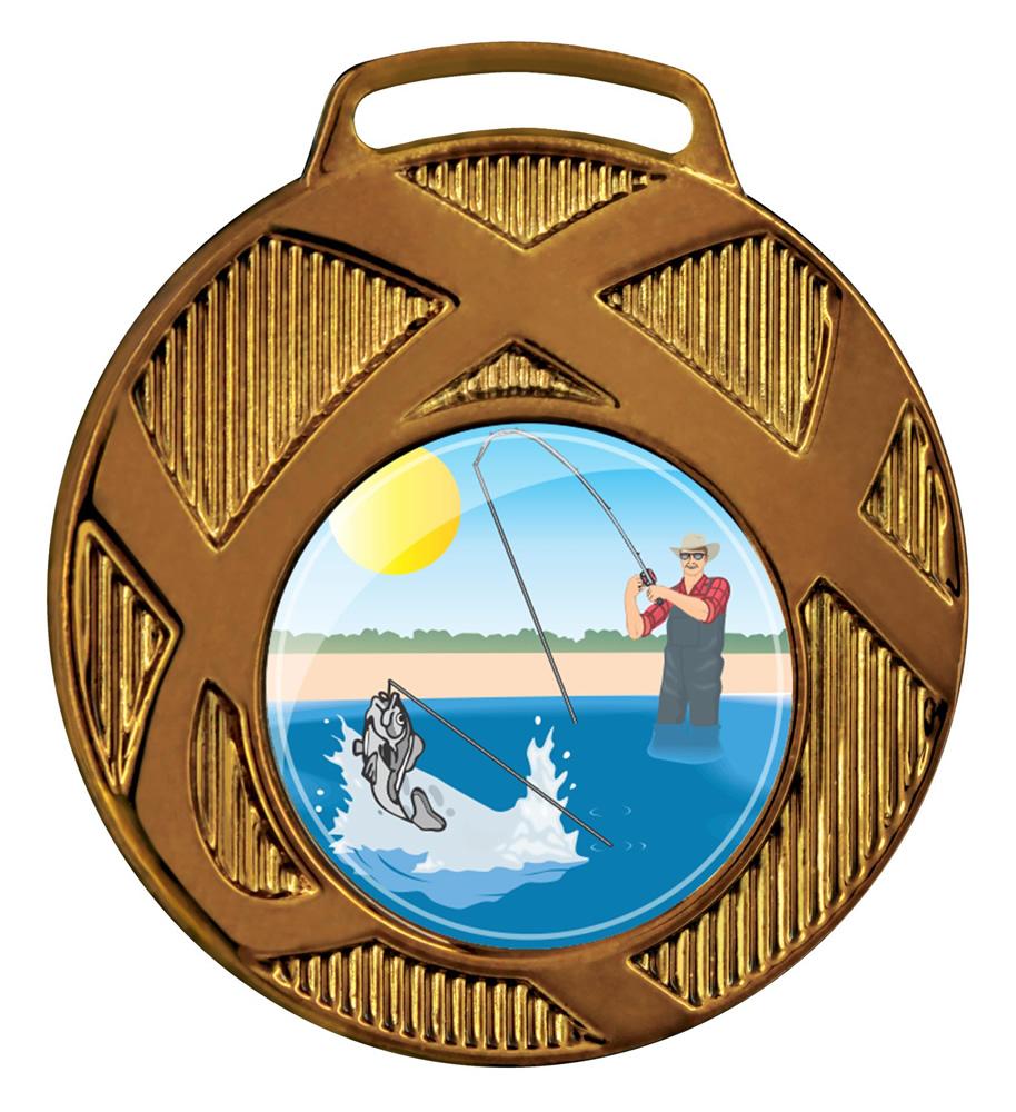 Medalha 02 bronze Adesivo | TOPTROFÉUS