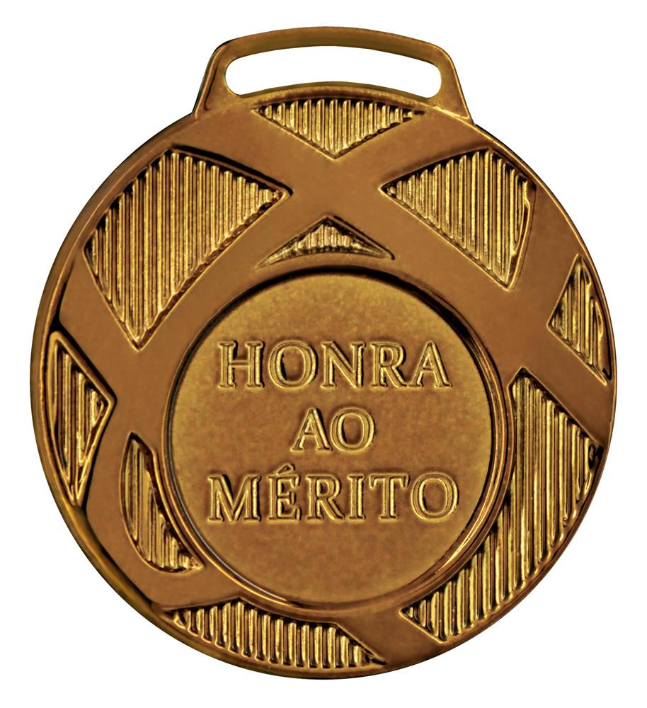 Medalha 02 bronze Honra ao Mérito | TOPTROFÉUS