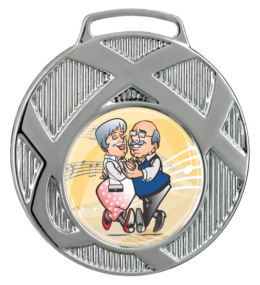 Medalha 02 prata Adesivo | TOPTROFÉUS