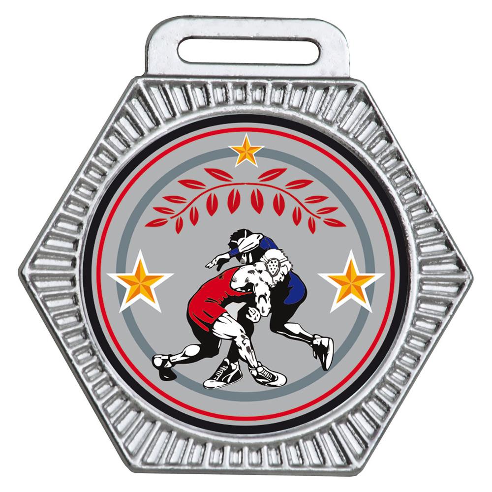 Medalha 15 prata Adesivo | TOPTROFÉUS