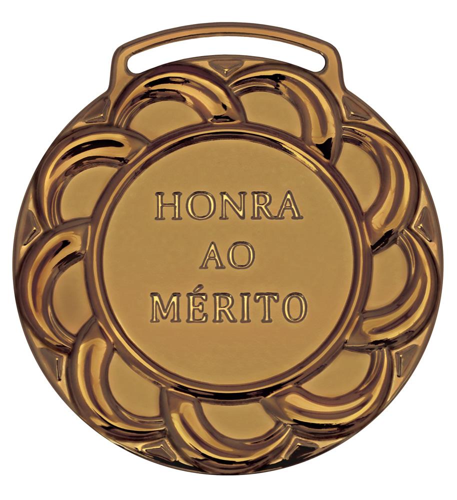 Medalha 08 bronze Honra ao Mérito | TOPTROFÉUS