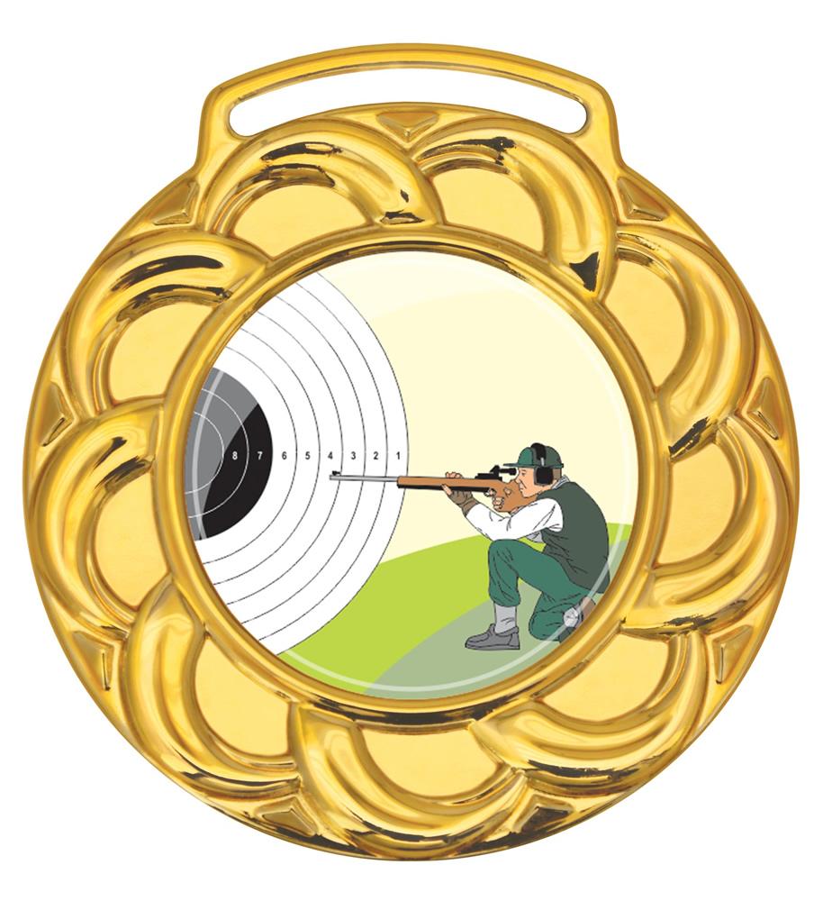 Medalha 08 ouro Adesivo | TOPTROFÉUS