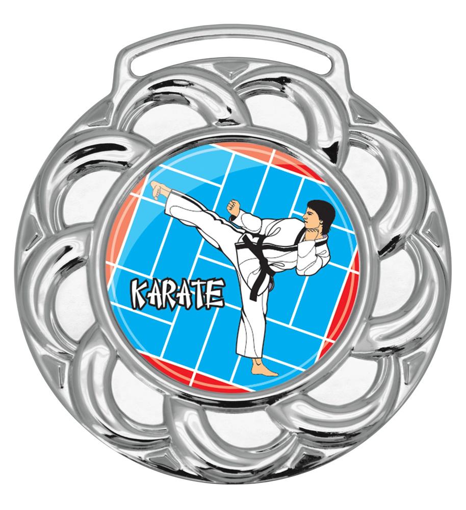 Medalha 08 prata Adesivo | TOPTROFÉUS