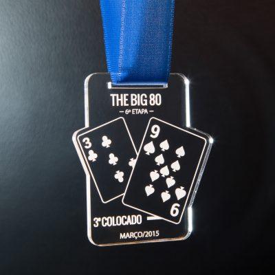 Medalha de Poker em acrílico | TOPTROFÉUS