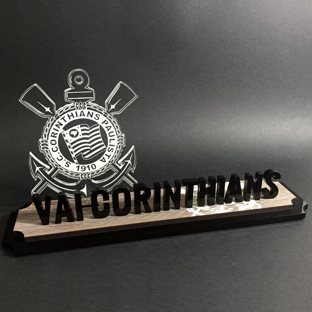 Placa Vai Corinthians | TOPTROFÉUS