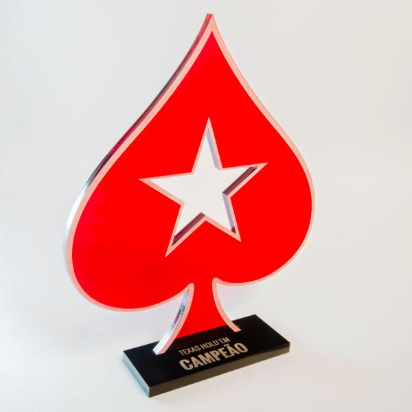 Troféu de Poker Vazado | TOPTROFÉUS