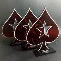 Troféu de Poker Vazado Conjunto | TOPTROFÉUS