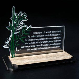 Placa Corporativa Bambu Chinês – COR0002