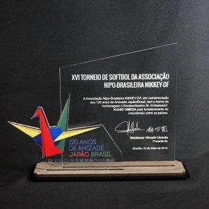 Placa Comemorativa Japão e Brasil – COR0009