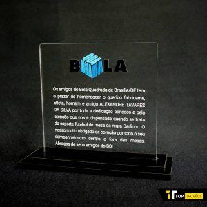 Placa de Homenagem Bola Quadrada – COR0054